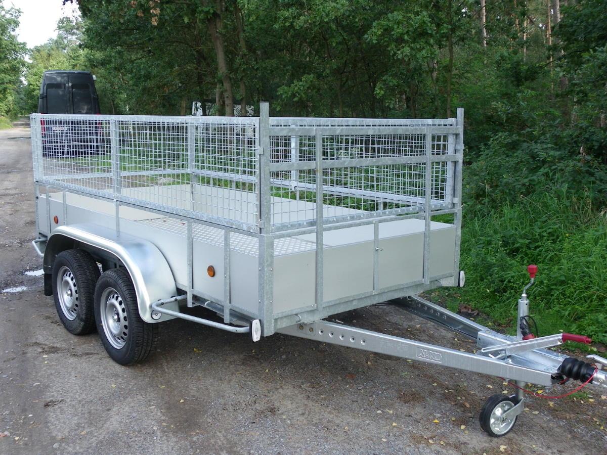 aanhangwagen power trailer 2 assen geremd alu + loofrek