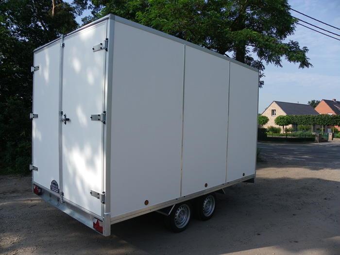 aanhangwagen power trailer gesloten kast plateau