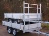 aanhangwagen power trailer 2 assen ongeremd plateau gestapeld