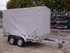 aanhangwagen power trailer gesloten huif 2 assen geremd